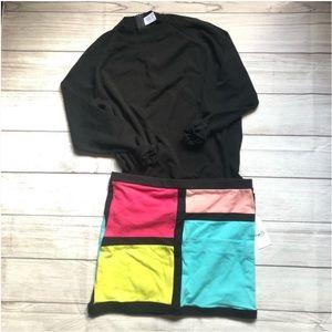 💛 (2 for $10) NWOT Colorblock Mini Skirt 🎁✨